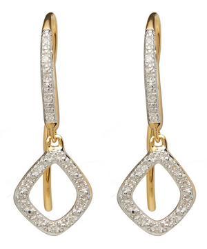 Gold Vermeil Riva Mini Diamond Kite Drop Earrings