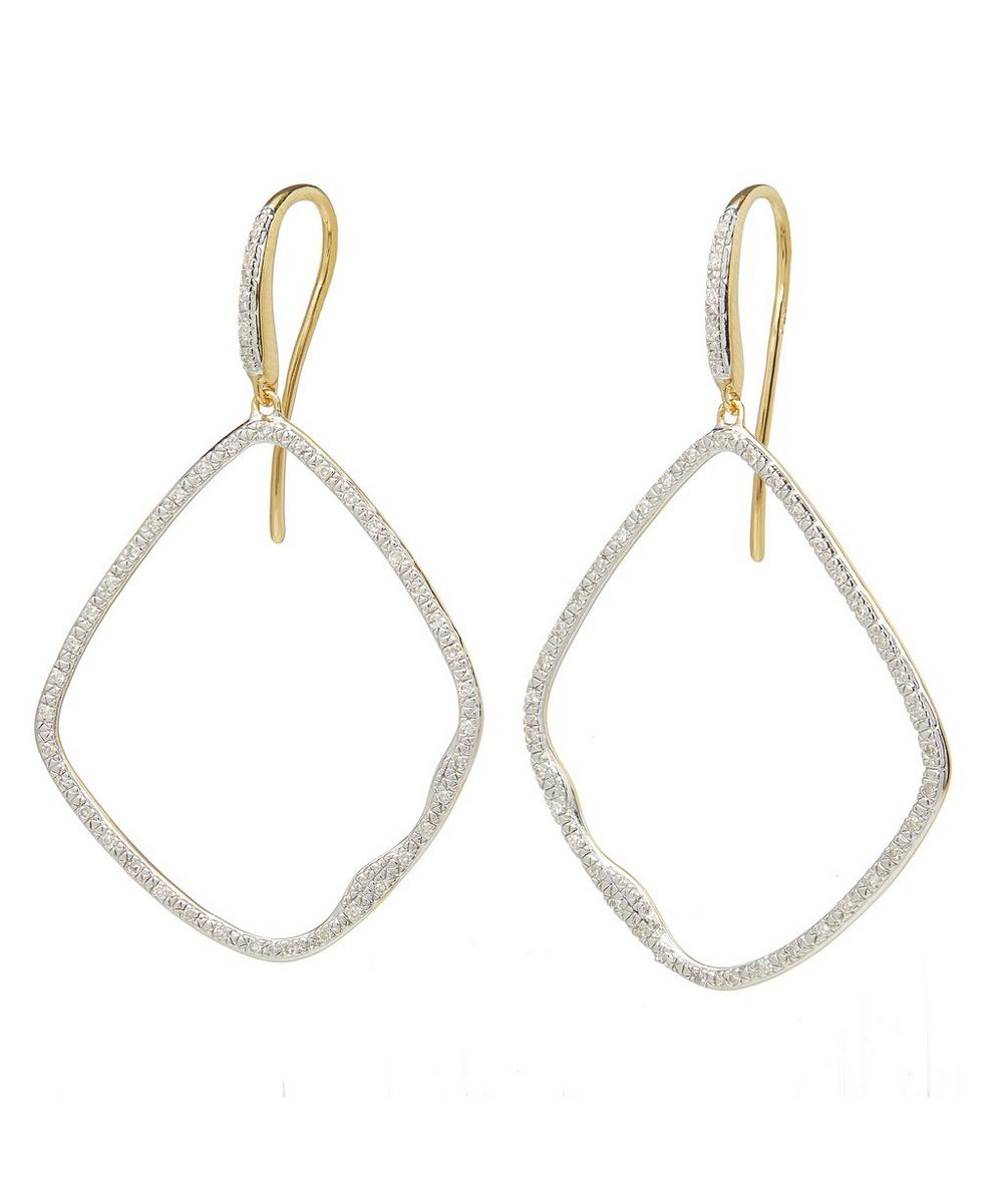 Gold Vermeil Riva Large Diamond Hoop Cocktail Earrings