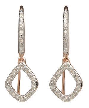 Rose Gold Vermeil Riva Mini Diamond Kite Drop Earrings