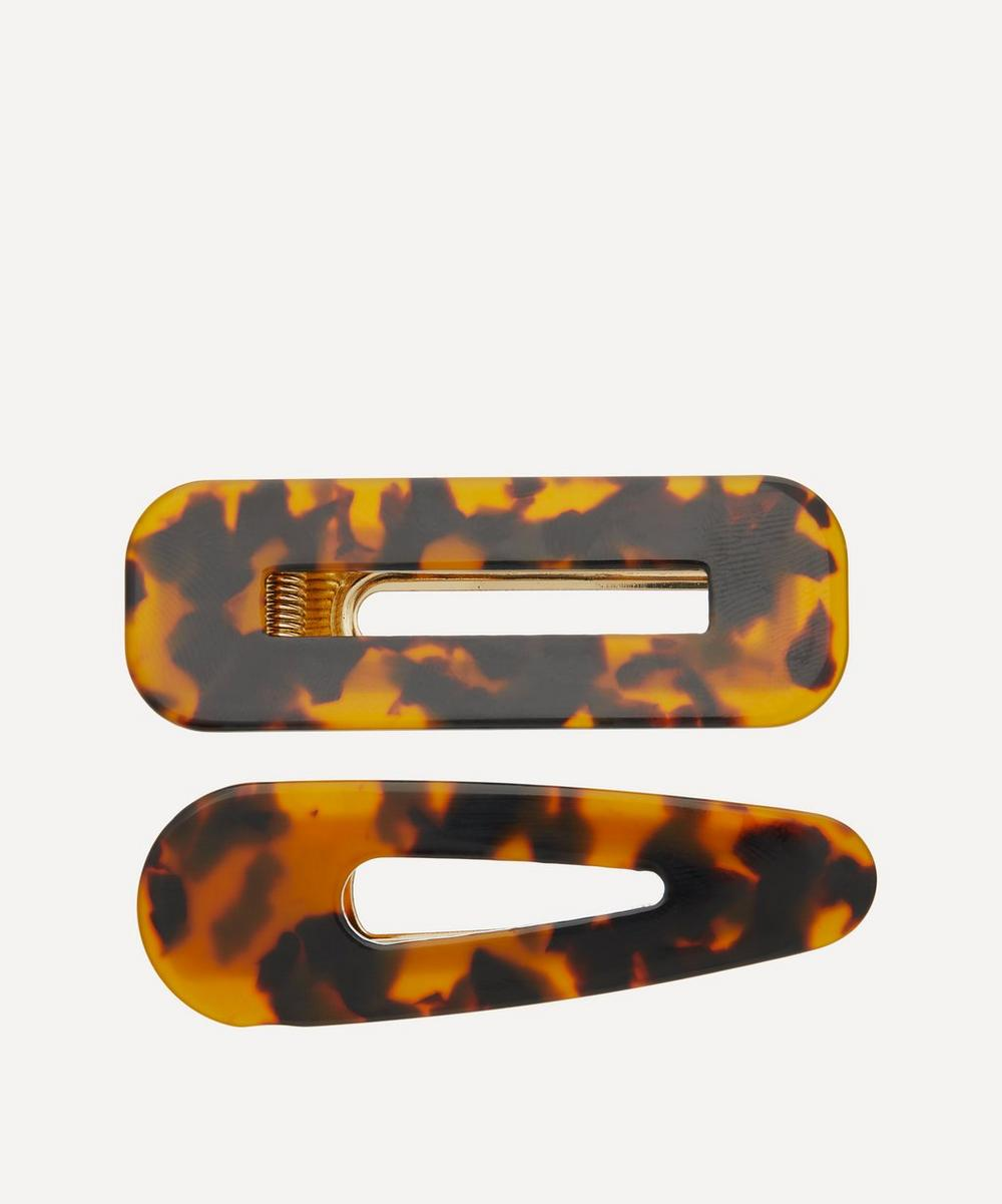 The Uniform Tortoiseshell Hair Clips Set Of Two