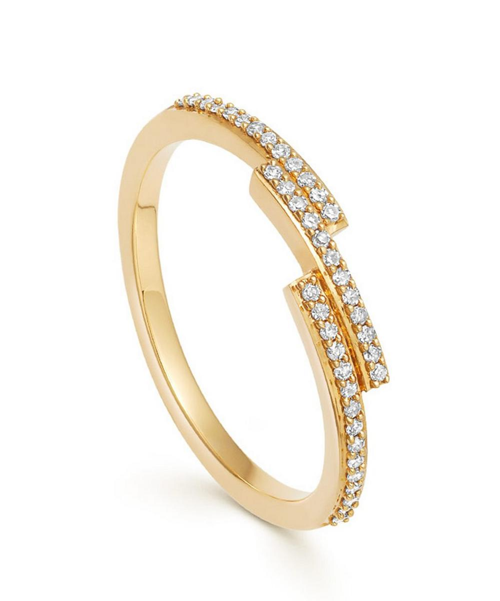 Astley Clarke Gold Icon Scala Diamond Ring