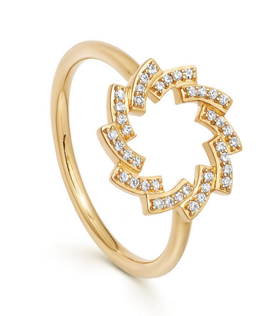 Astley Clarke Gold Icon Scala Diamond Cirque Ring