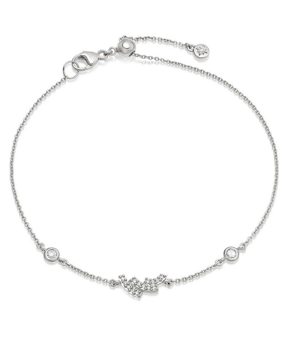 Astley Clarke White Gold Icon Scala Mini Diamond Bracelet In White, Gold