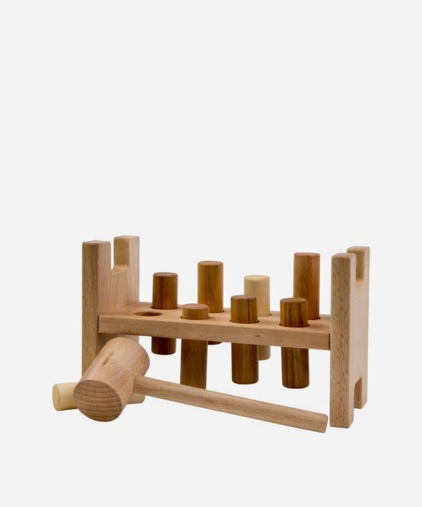 Wooden Story - Wooden Pound-A-Peg Toy