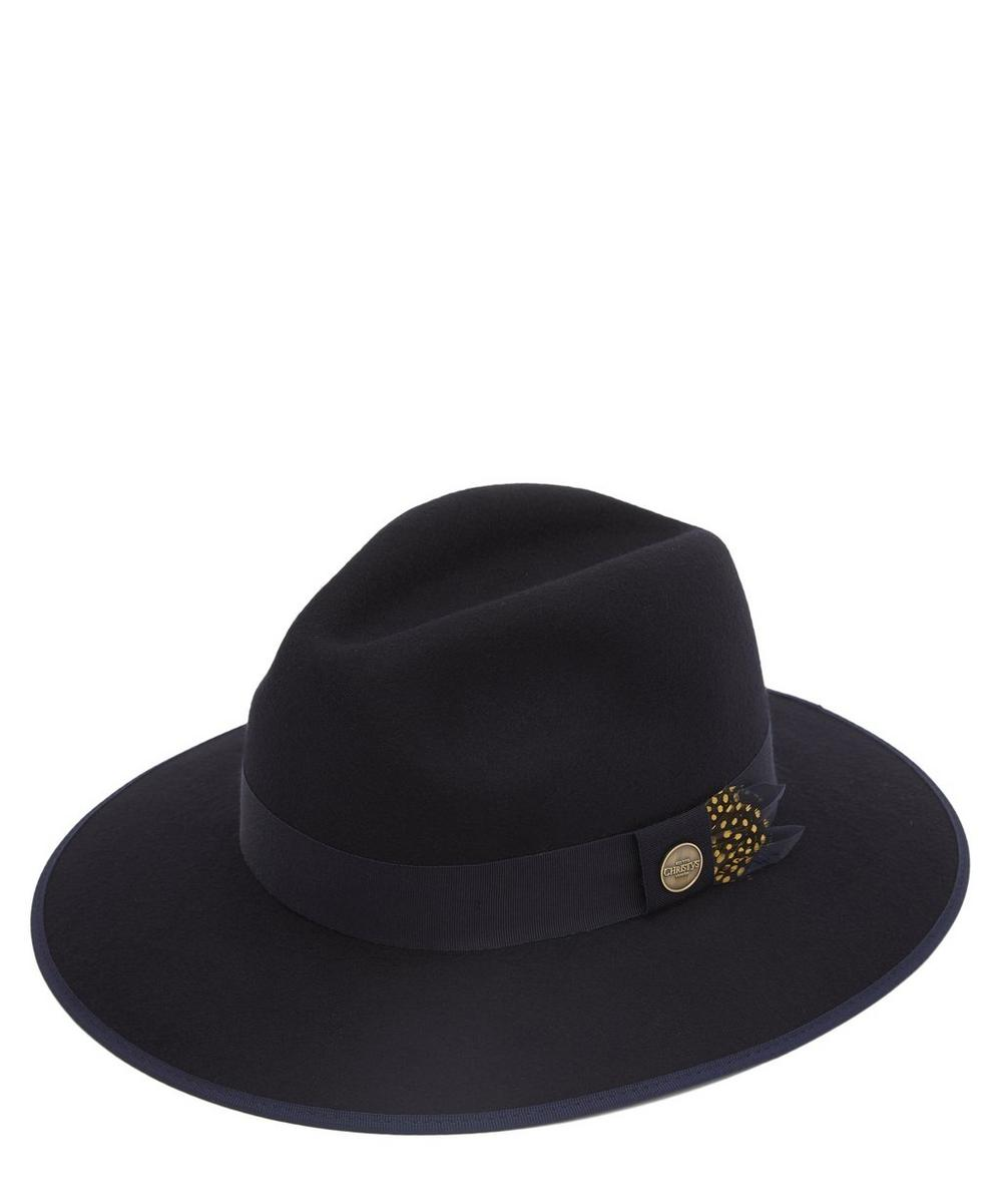 Widford Merino Wool Felt Feather Fedora Hat