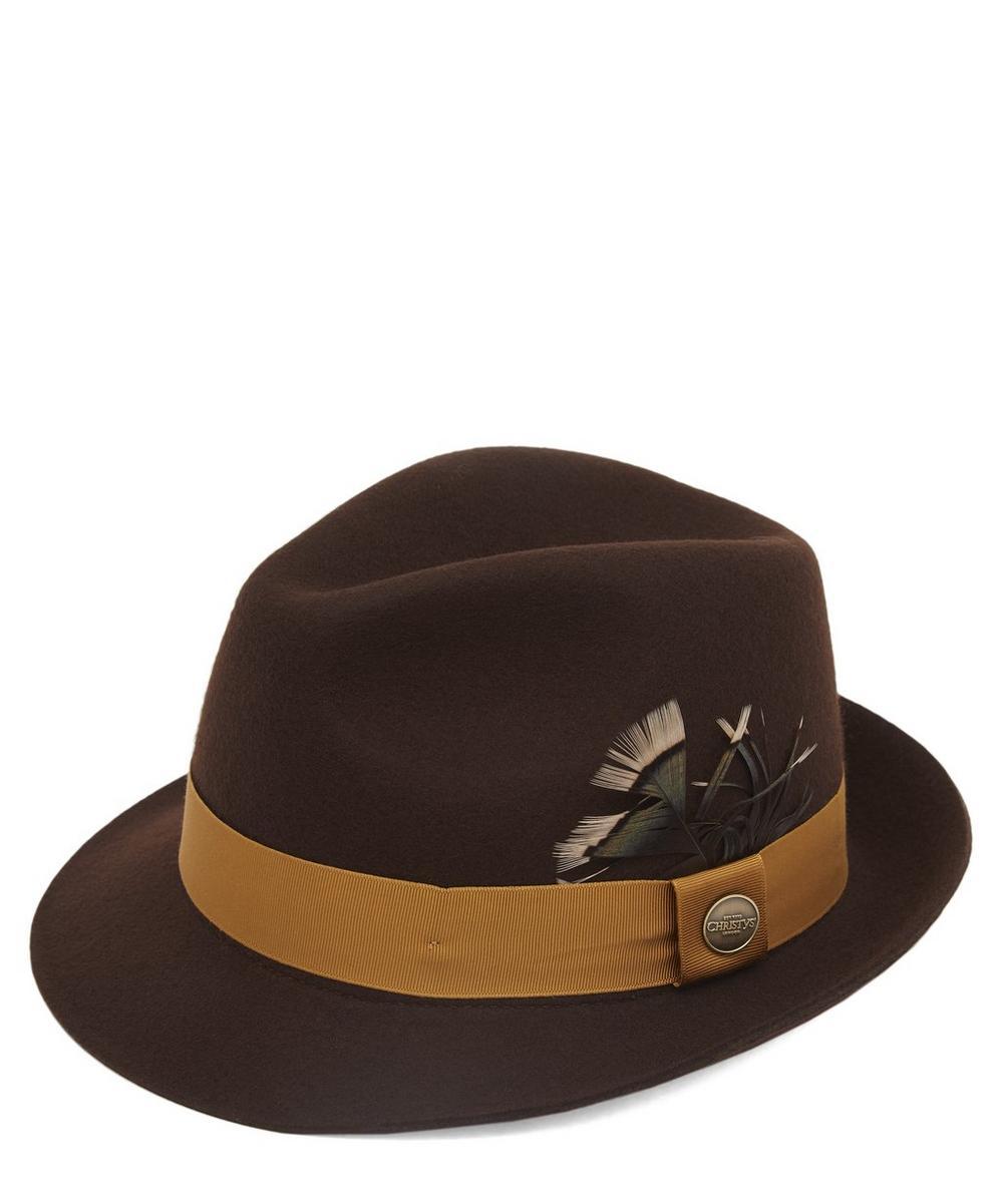 Wychwood Wool Felt Feather Trilby Hat