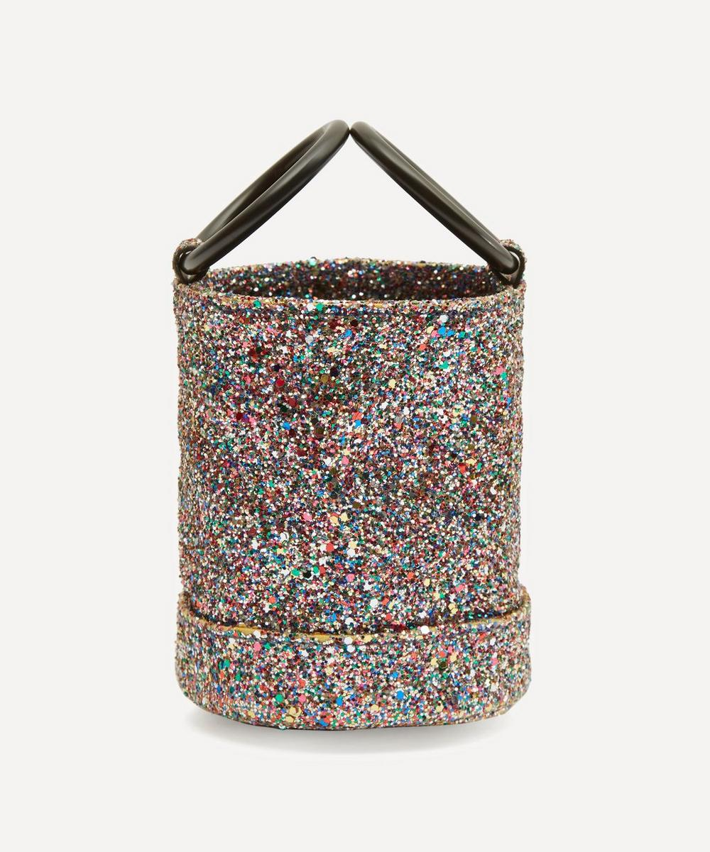 Bonsai 15 Small Glitter Link Strap Bucket Bag