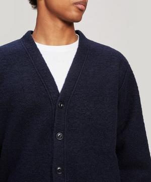 Patch Wool-Blend Cardigan