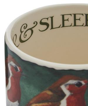 Robin on the Green Half-Pint Mug