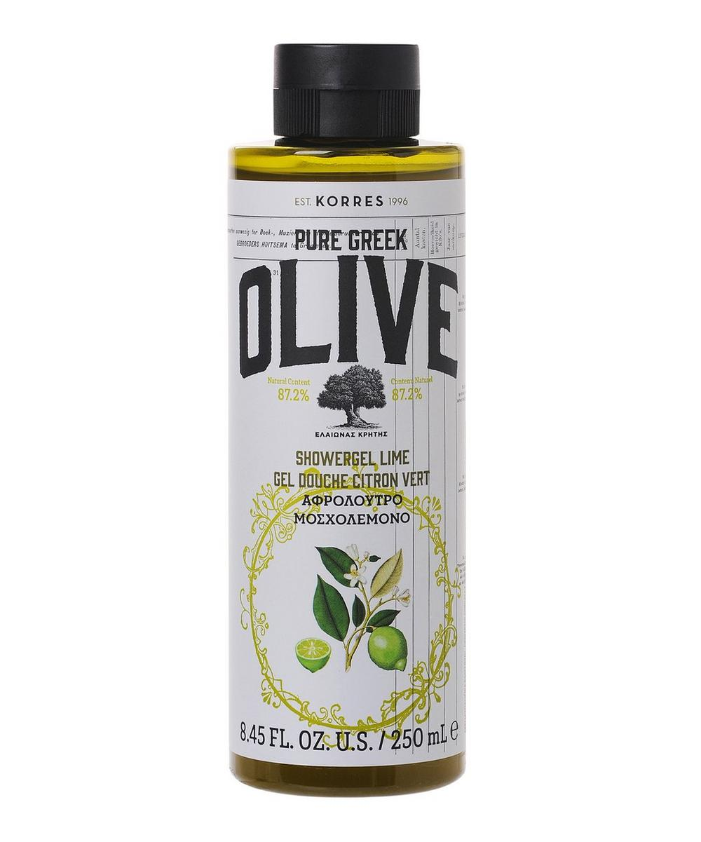Pure Greek Olive and Lime Shower Gel 250ml