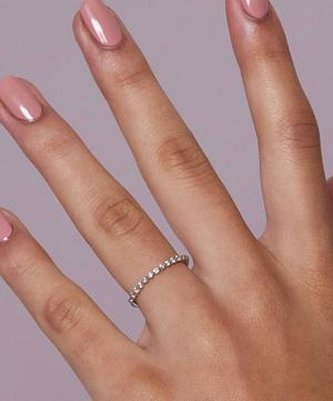 White Gold Sweet Pea Diamond Half Eternity Ring