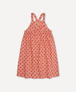 Overall Tomato Print Dress 4-8 Years