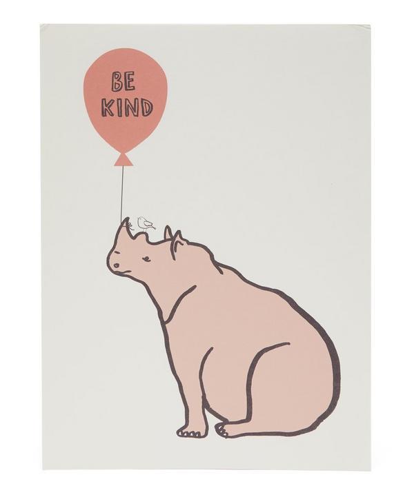 Rhino Be Kind Print