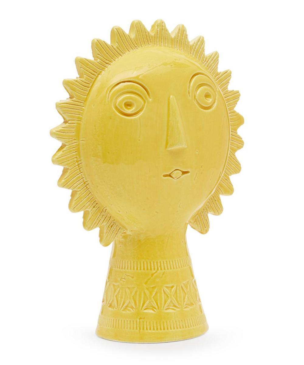 Rimini Yellow Ceramic Sun Figure