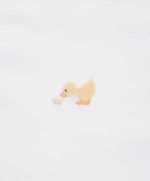 Duckies Hand-Embroidered Bib