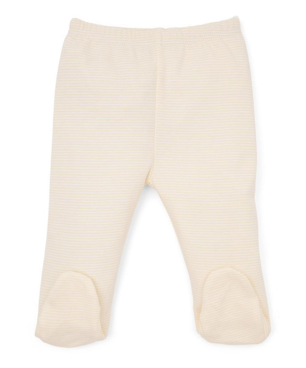 Duckies Hand-Embroidered Footed Pant Set 0-6 Months
