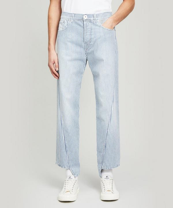 Striped Twisted-Seam Jeans
