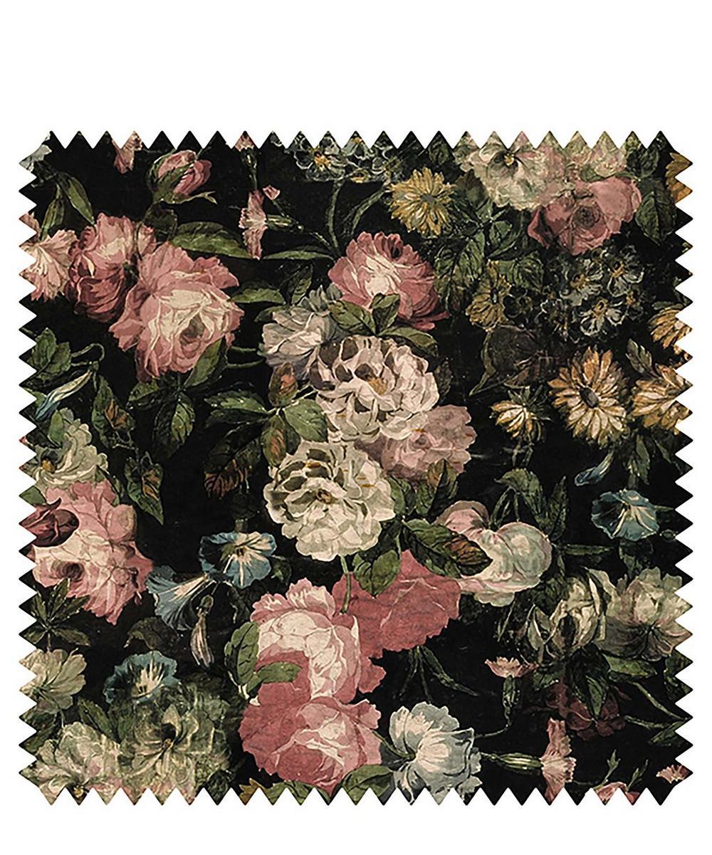 Midnight Garden Velvet Fabric Sample Swatch