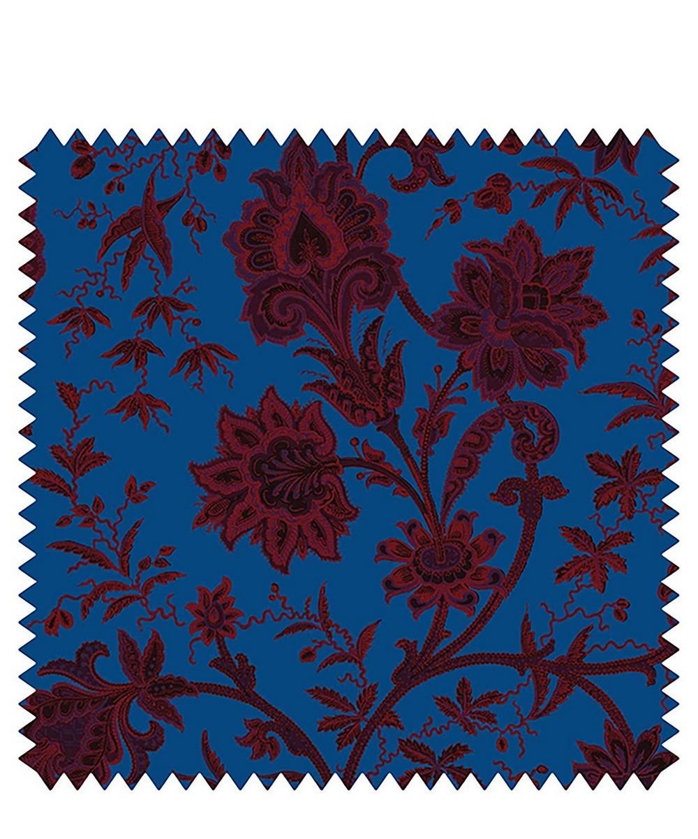 Indienne Cotton Velvet Fabric Sample Swatch