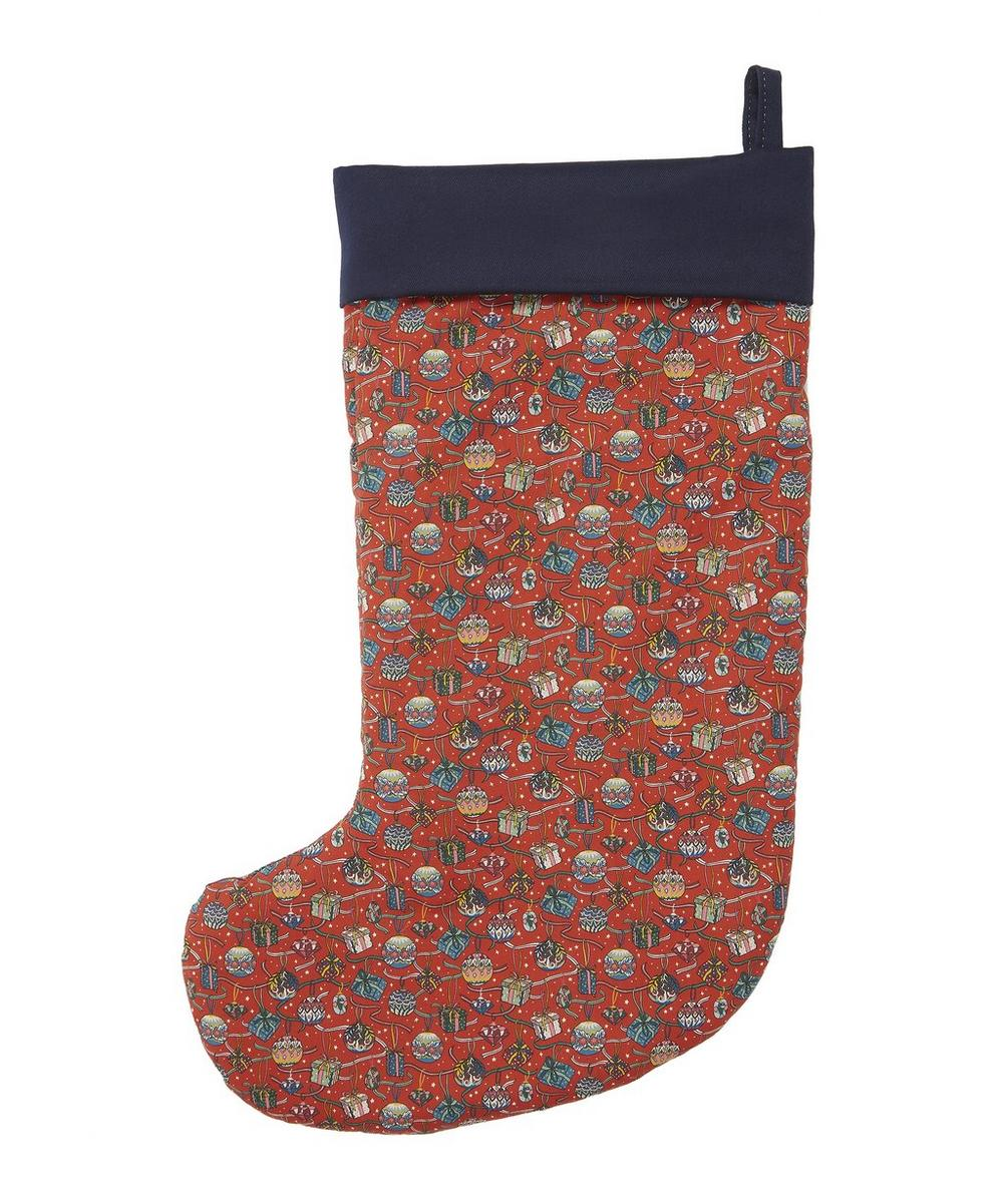 Little Liberty Filled Red House of Gifts Christmas Stocking 2019