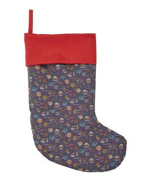 Little Liberty Filled Blue House of Gifts Christmas Stocking 2019