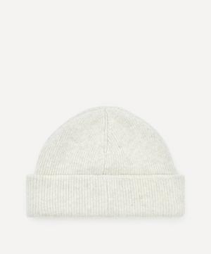 Face Wool-Blend Beanie Hat
