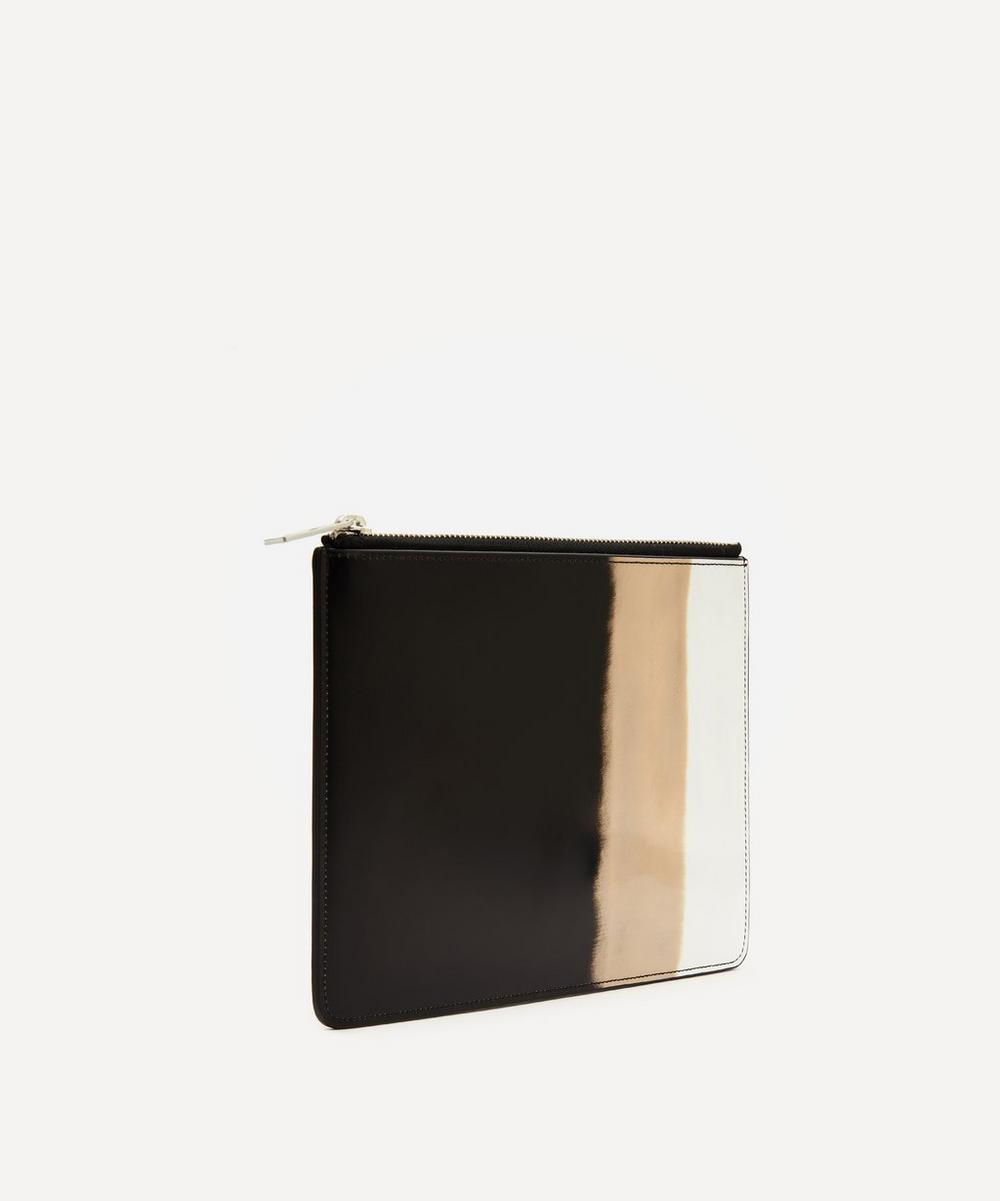 Faded Tri-Colour Leather Pouch