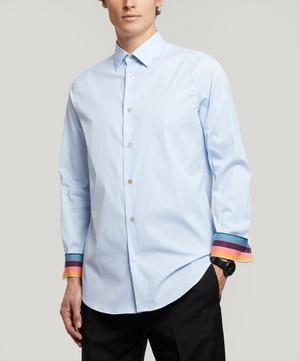 Stretch-Cotton Plain Shirt