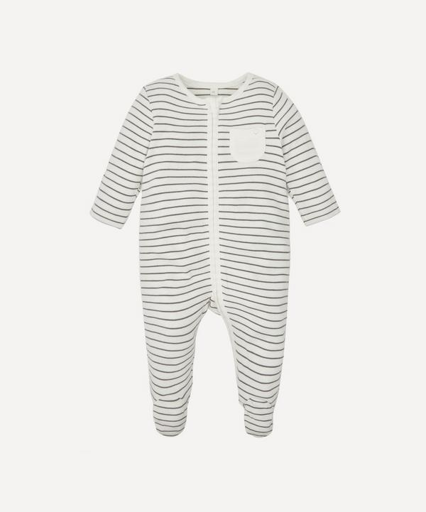 MORI - Stripe Zip-Up Sleepsuit 0-24 Months