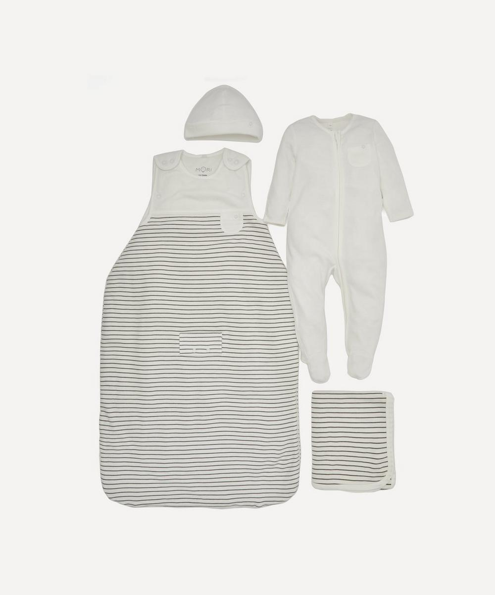 Stripe Clever Sleep Set 0-6 Months