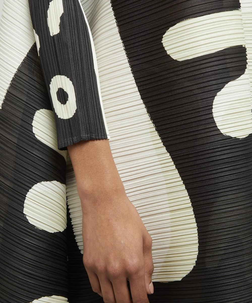 Pause Abstract-Print Horizontal Pleat Dress