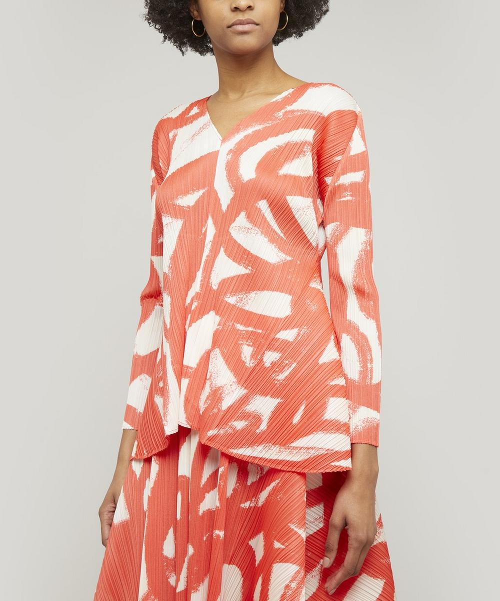 Spin Long Sleeve Printed Top