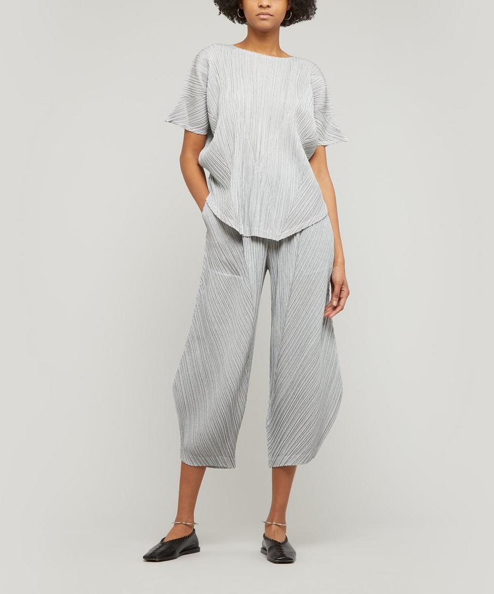 Pinstripe Short Sleeve Top