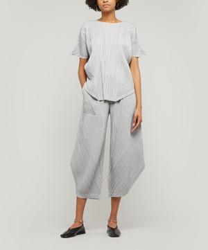 Pinstripe Wide-Leg Culottes