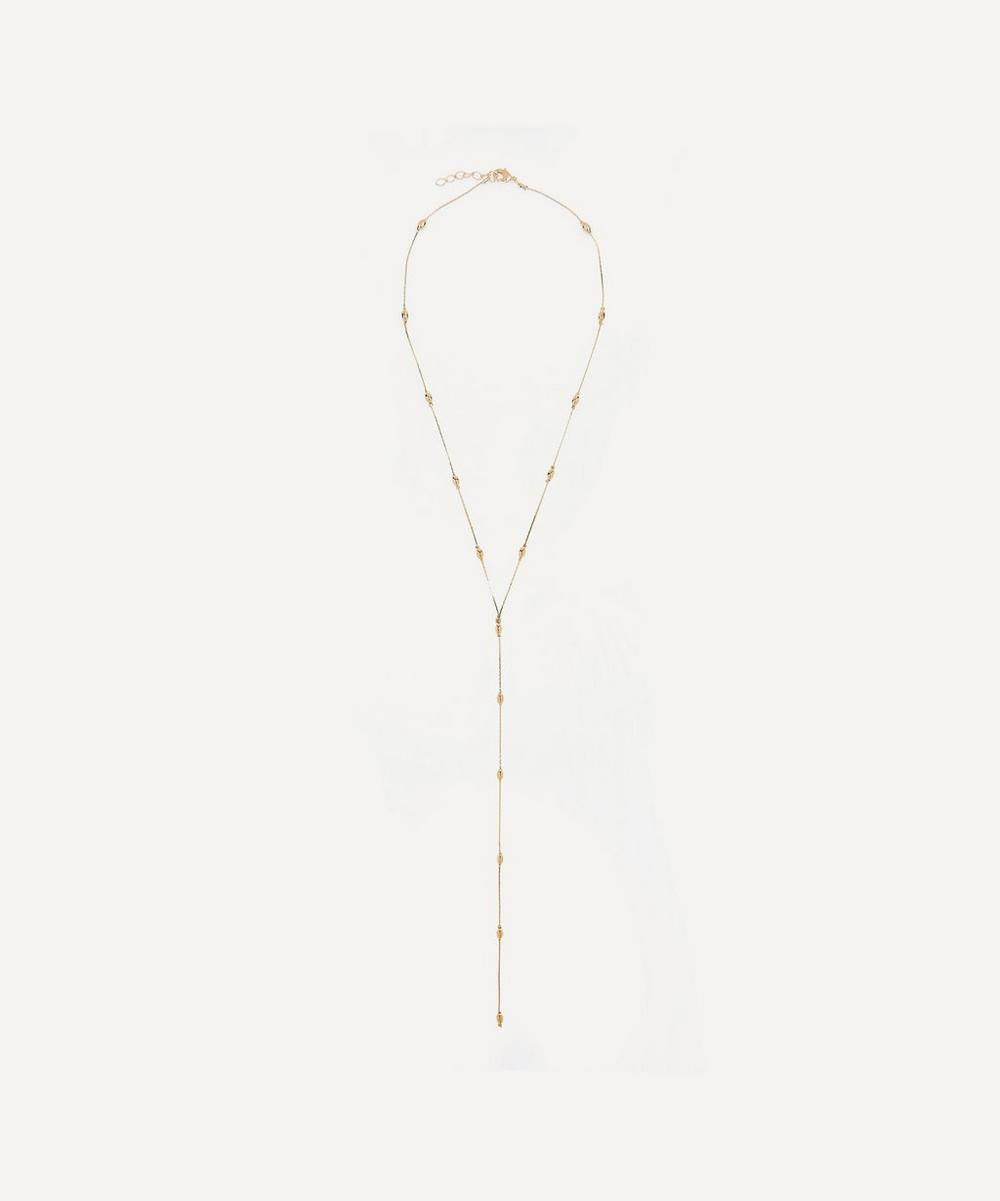 Gold-Plated Serpent Drop Necklace