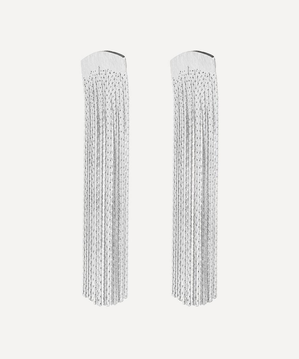 Silver-Plated Grand Fil d'Argent Drop Earrings