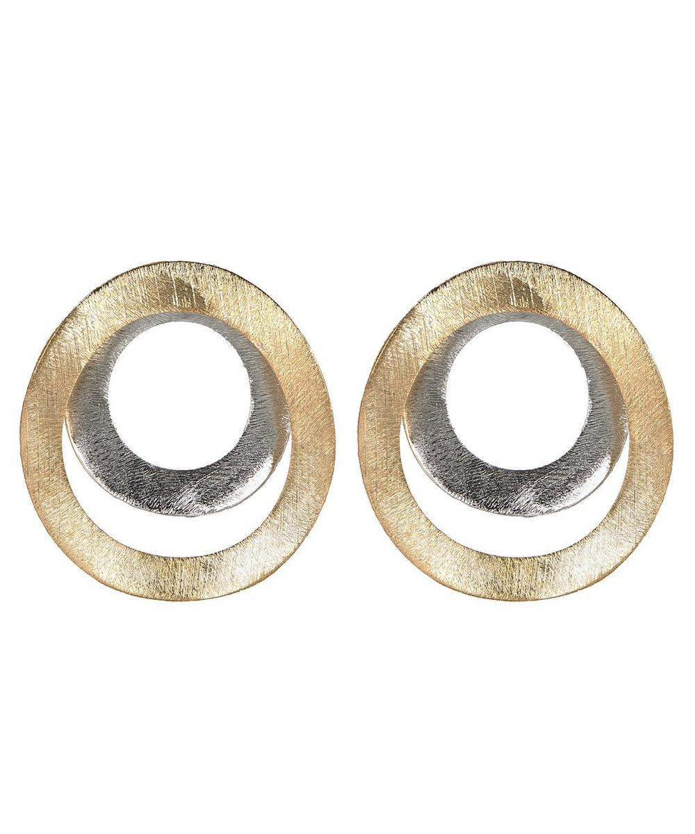 Gold-Plated Joined at the Hoop Doré Earrings