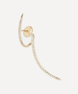 Gold Tourbillon Pavé Diamond Spiral Earring