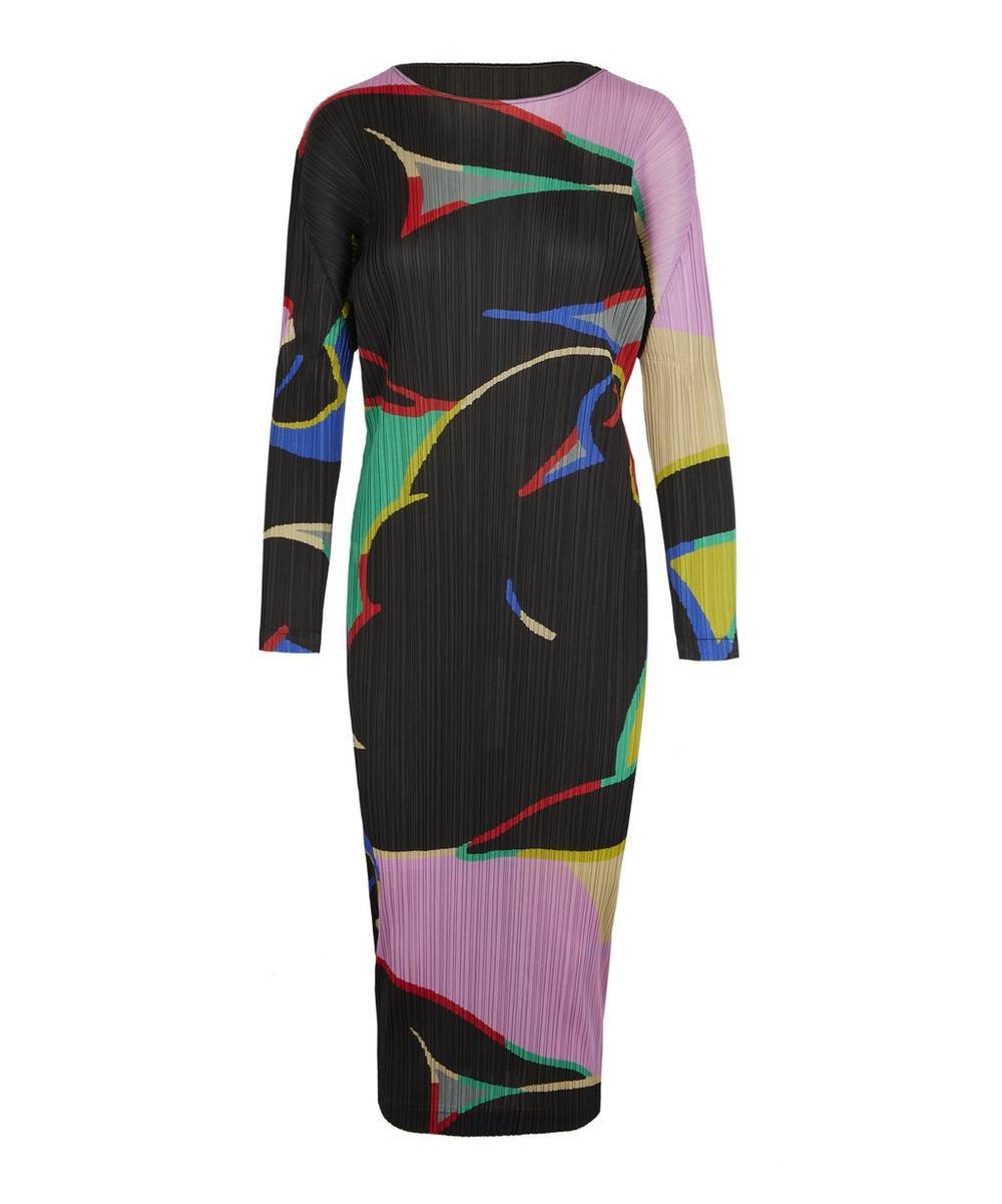 Pleats Please Issey Miyake Dresses RELAXING PRINTED DRESS