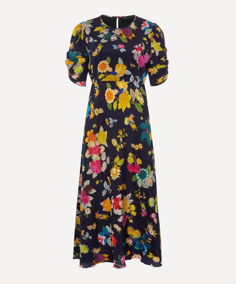 Etro Dresses FLORAL STRETCH-SILK CR MIDI-DRESS