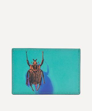 Photographic Beetle Print Leather Cardholder