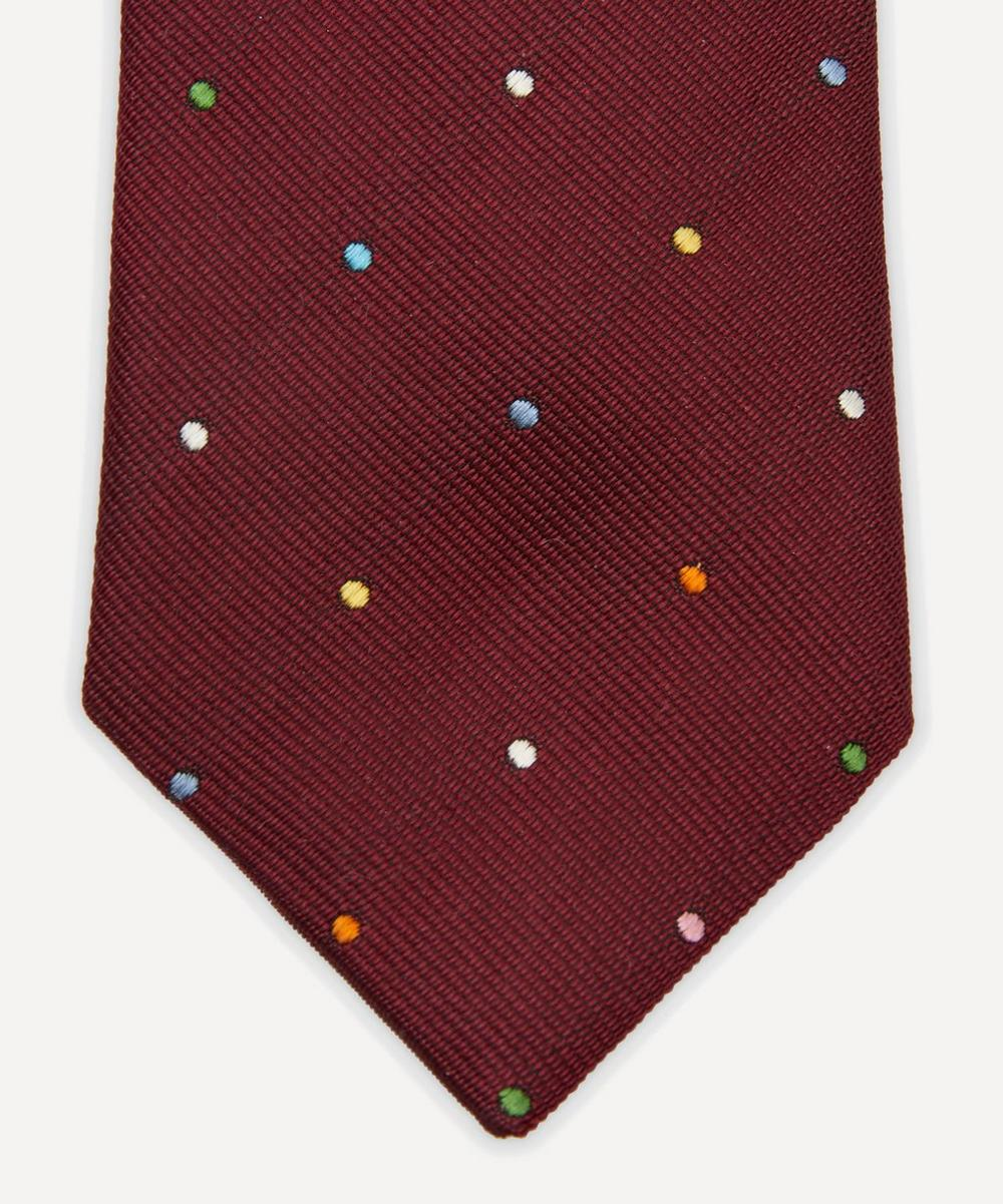 Multi-Dot Narrow Silk Tie