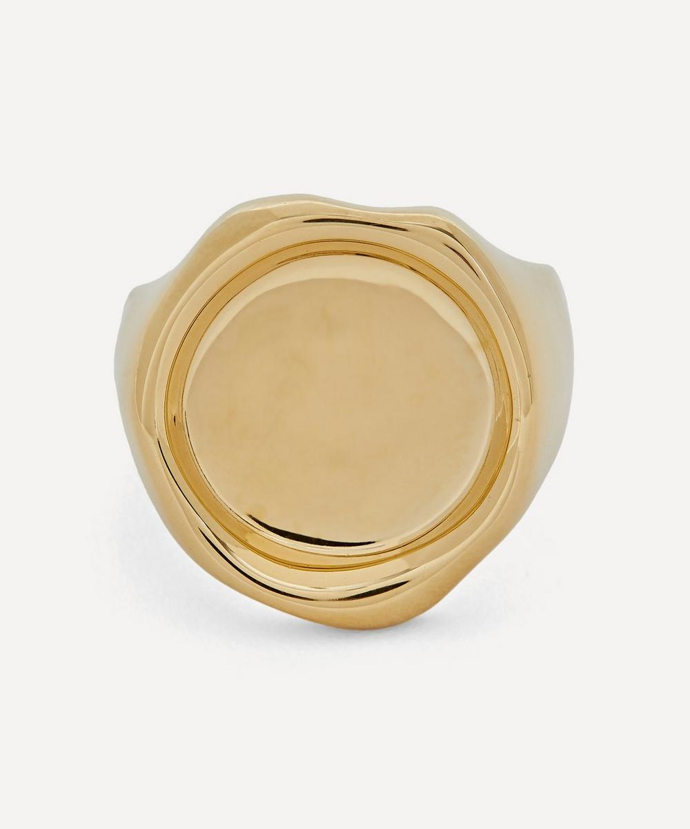 Recycled 18ct Gold-Plated Sterling Silver Sigil Ring