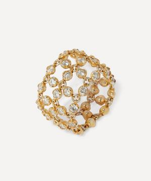 18ct Gold Net Diamond Ring