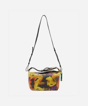 Rectangular Floral Leather Cross-Body Bag