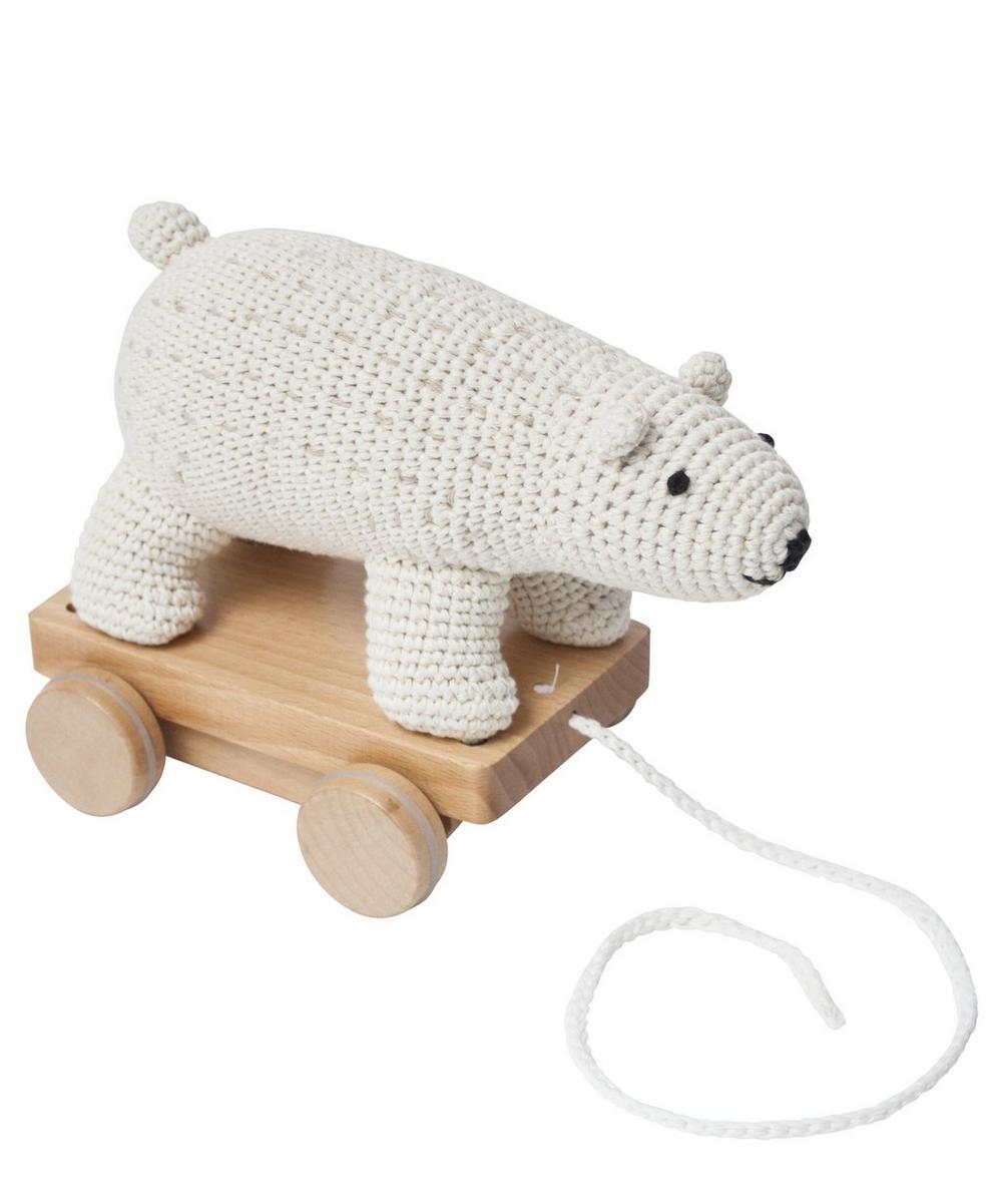 Crochet Polar Bear Pull-Along Toy