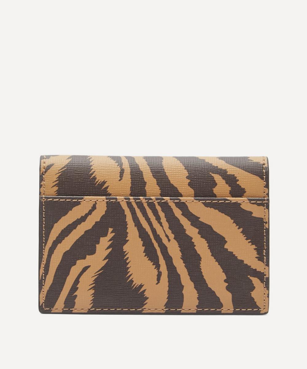 Zebra Leather Card Holder