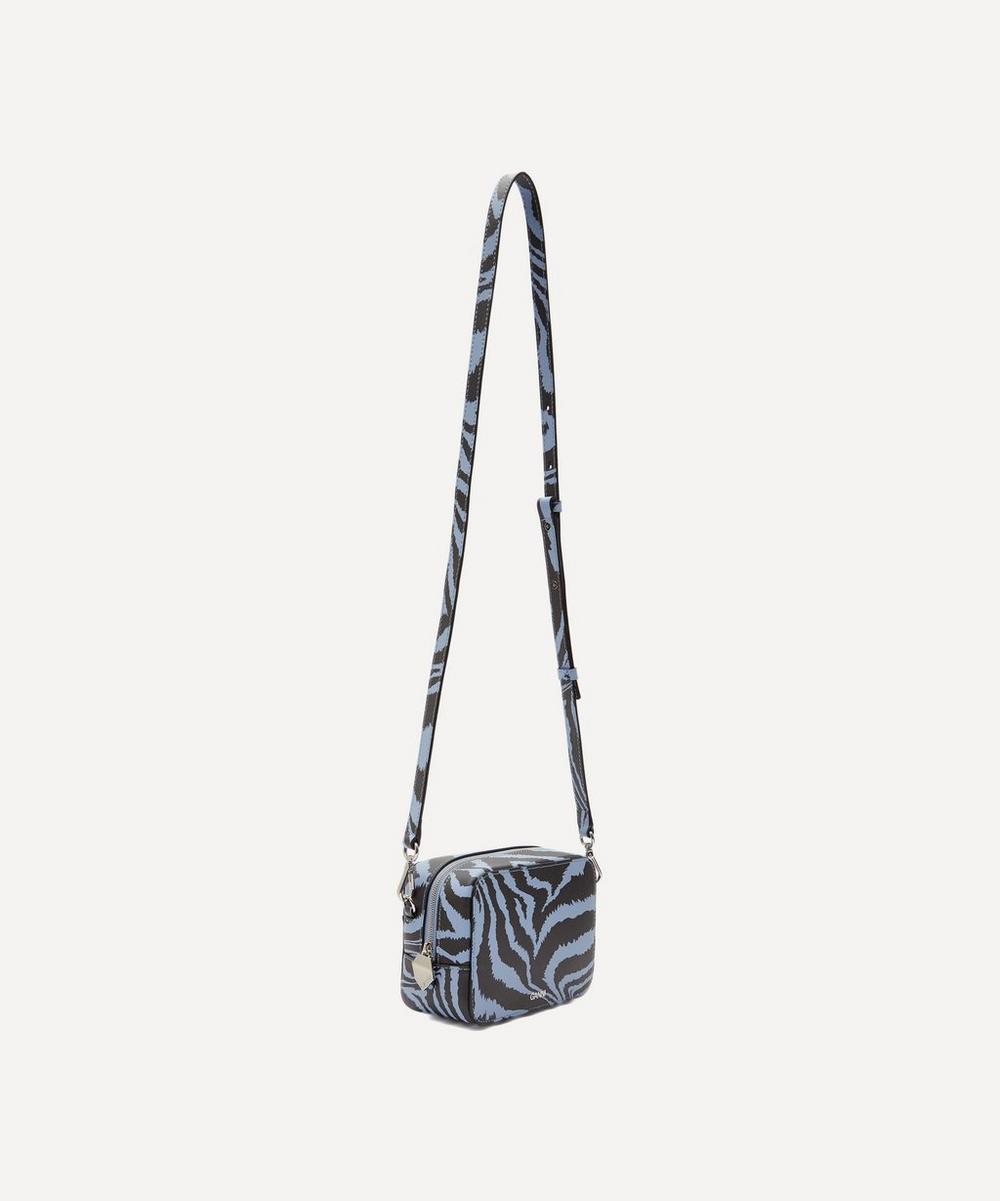 Zebra Leather Cross-Body Camera Bag