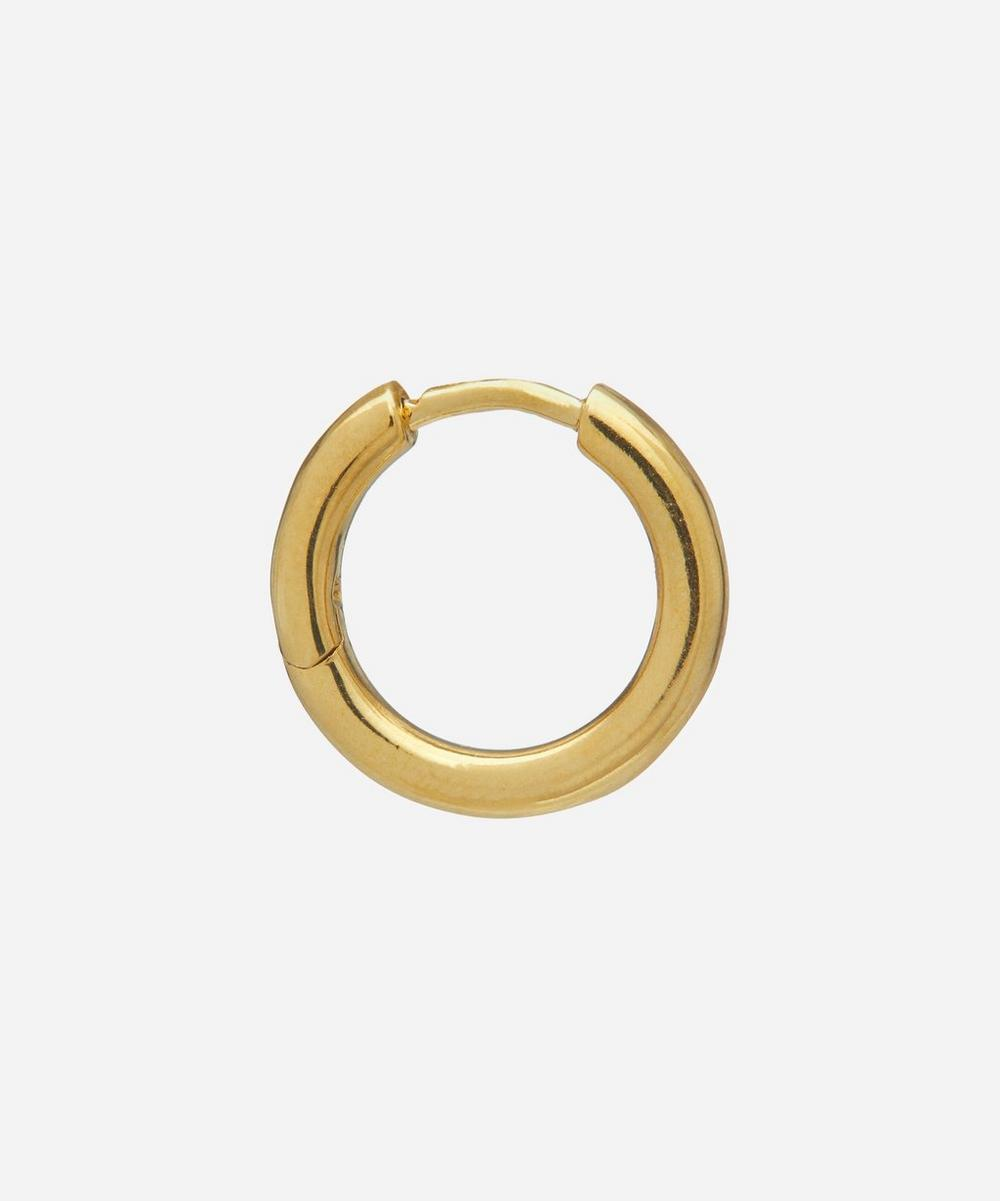 Gold-Plated Polo Huggie Hoop Earring