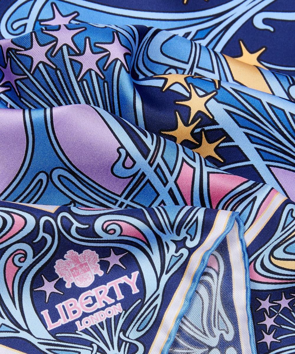 Ianthe Star 90 x 90cm Silk Twill Scarf